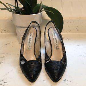 Via Spiga leather slingback heels